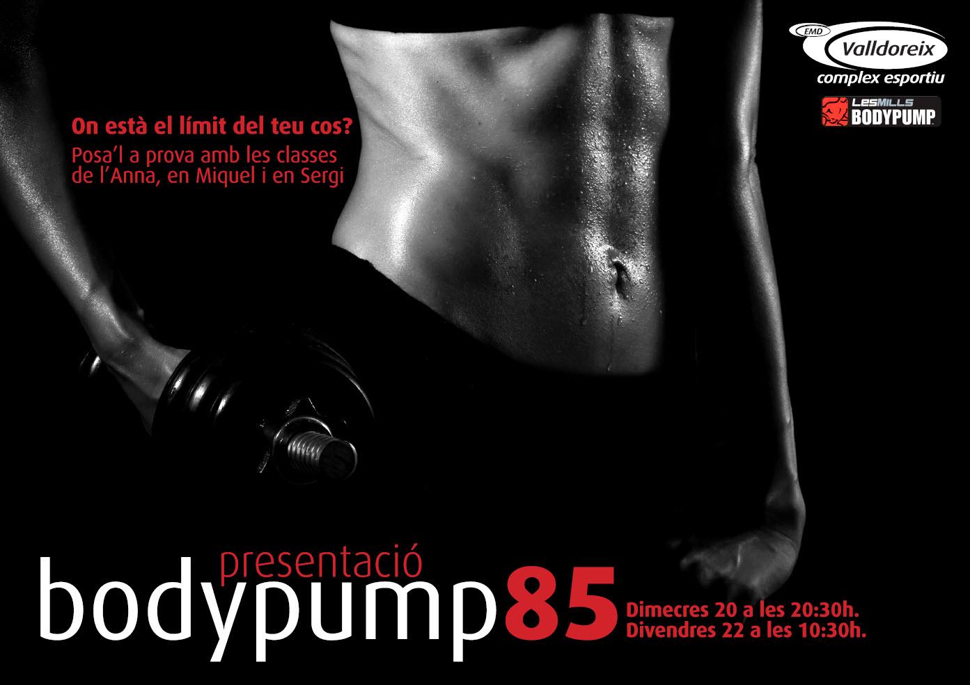 Presentació de la Body Pump 85