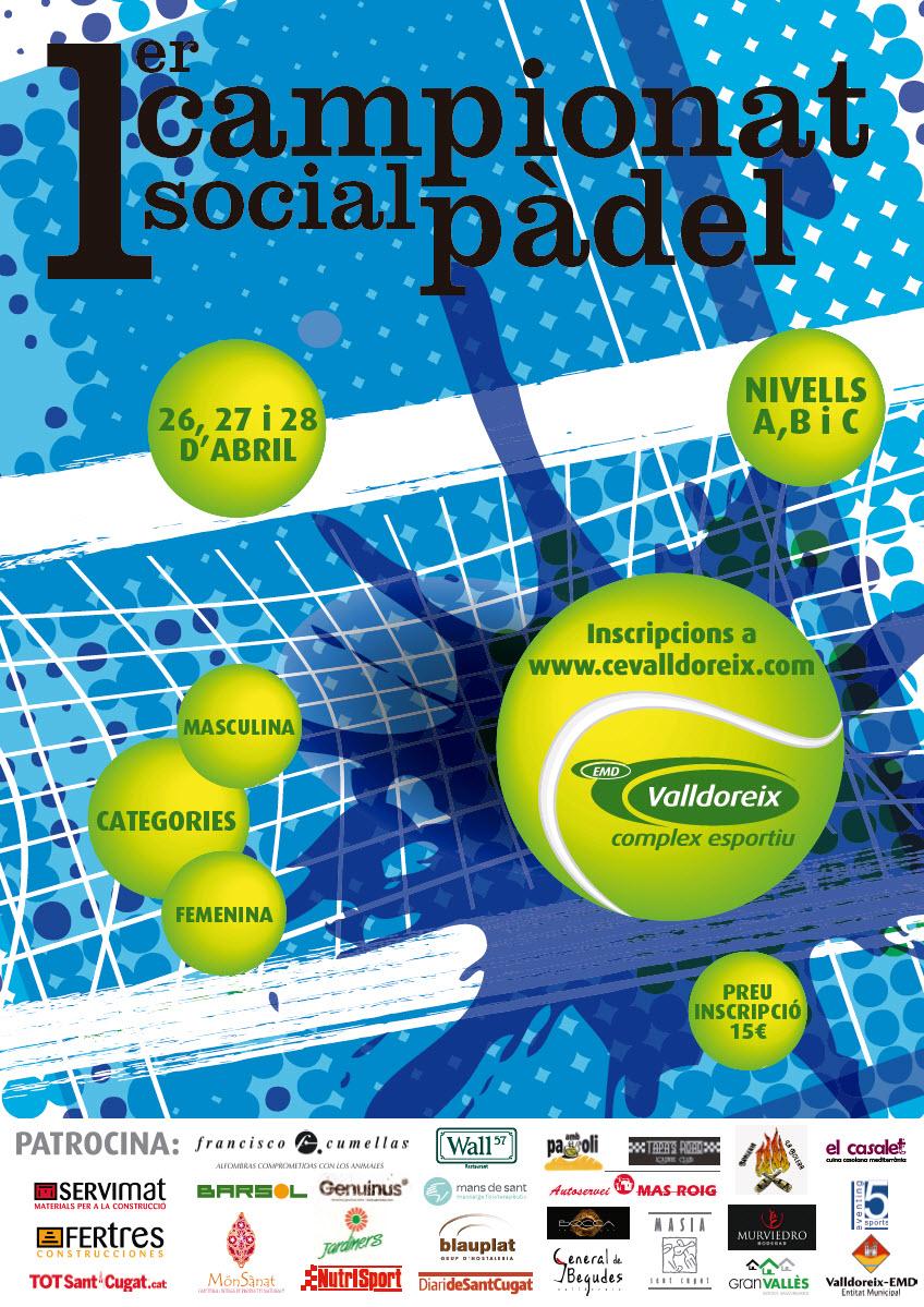 Inscripcions al 1r Campionat Social de Pàdel