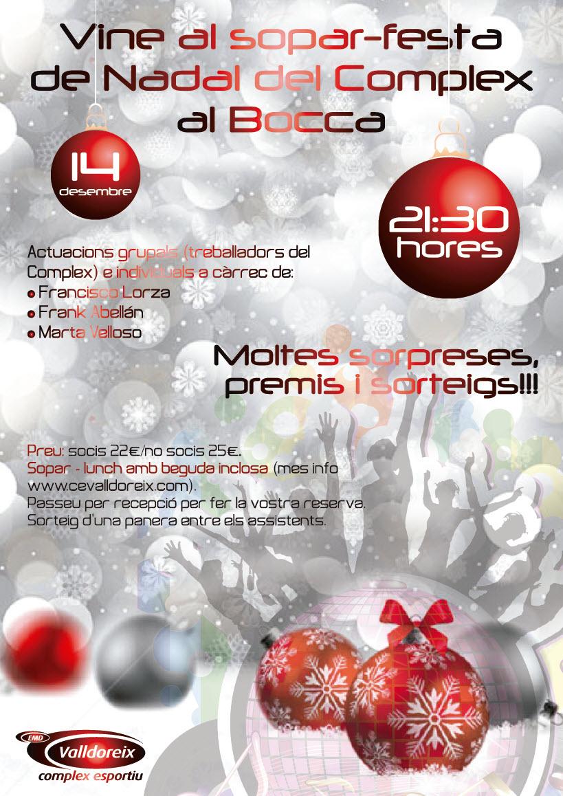 Sopar-Festa de Nadal del Complex – 14 de desembre de 2013 a les 21h