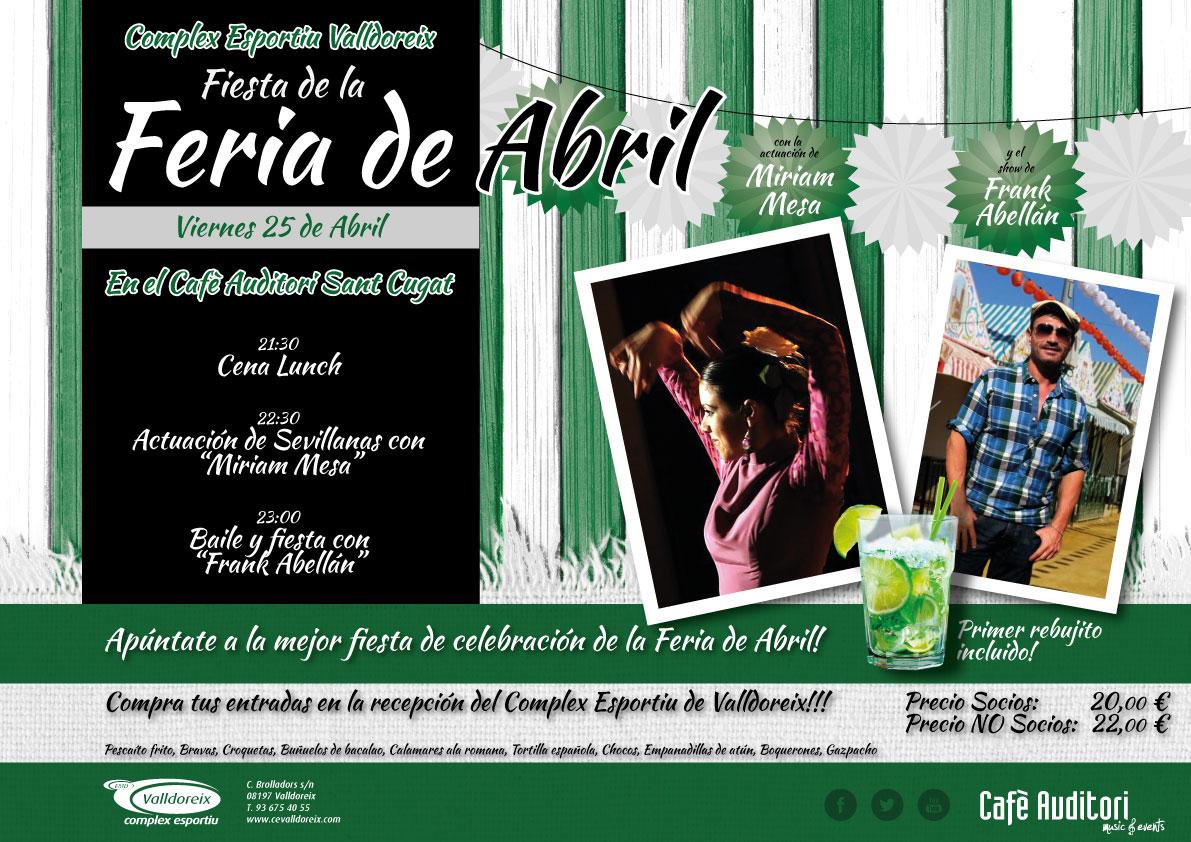 "Sopar+Festa ""Feria de Abril"""