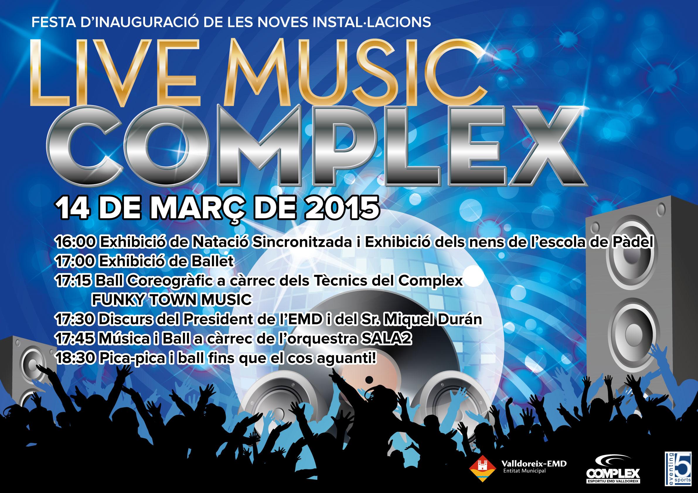 """Festa d'inauguració de noves instal·lacions """"Live Music Complex"""""""